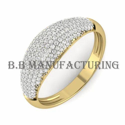 Wedding 14k Yellow Gold Diamond Pretty Fine Jewelry Ring