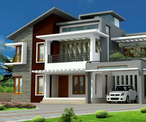 Home Design Exterior Ideas In India: Kothi Construction Services
