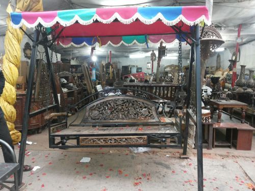 Wrought Iron Furniture 01 Wrought Iron Wooden Jhula Swing