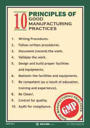 Good Manufacturing Practices For Food Canada