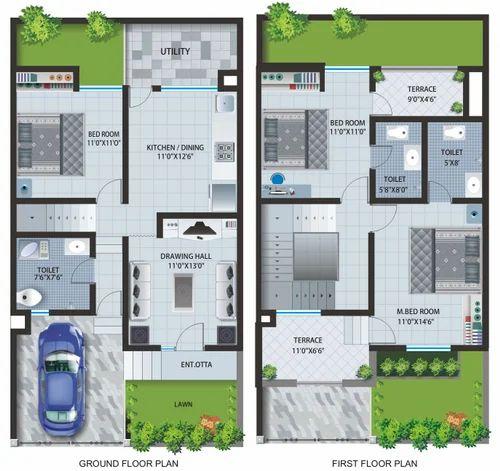 Home Design Ideas Floor Plans: Row House Plan Services Service Provider From Mumbai
