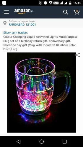 Birthday Party Return Gifts Mug With Led Lighting Wholer From Faridabad