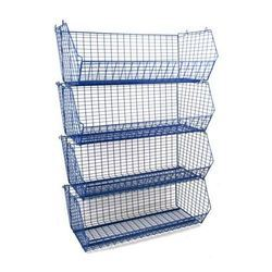 Stacking Wire Baskets Storage And Display Racks Manufacturer From Delhi