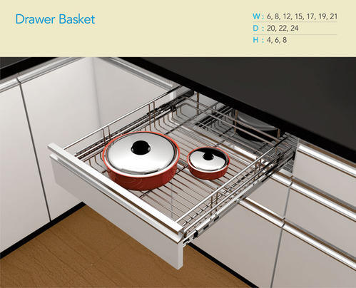 In Out Drawer Kitchen Basket