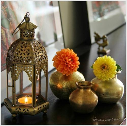 Decorating Home For Diwali: Candle Lantern Diwali Decor & Wall Candle Diya